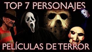 TOP 7 ASESINOS PELÍCULAS DE TERROR | VIDEOS ESCENAS MIEDO | MEJORES DISFRACES MAKEUP HALLOWEEN 2015