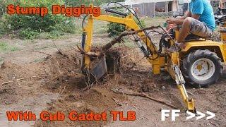 Digging a Stump with Cub Cadet 149 TLB
