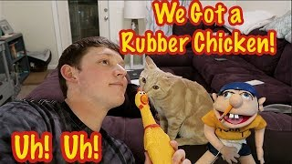 Jeffy and Lance Got a Rubber Chicken!
