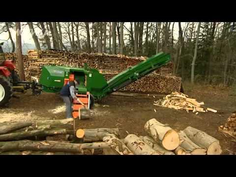 Машина за цепење дрва каква што не сте виделе до сега