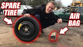 How High Can an Airbag LAUNCH a Spare Tire??