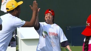 Lacoste Special Needs Clinic at the Dubai Duty Free Tennis Championships