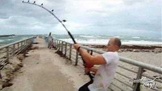 Pêche extrême en bord de mer