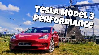 2019 Tesla Model 3 Performance test drive review - EU Spec with NCAP 5 star safety rating