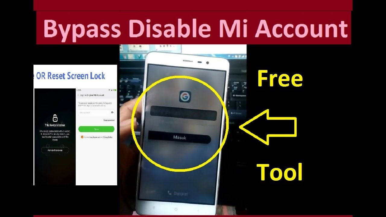 Bypass Mi Account Unlock & Disable  tested redmi note 3 hennessy
