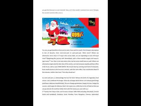 OMGCityDiscount: Call Us Your Food Santa-OMG City Discount