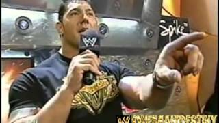 WWE Evolution Batista And Shawn Michaels Confrontation
