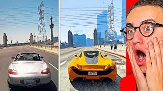 Reacting To GTA 5 vs. REAL LIFE! #2