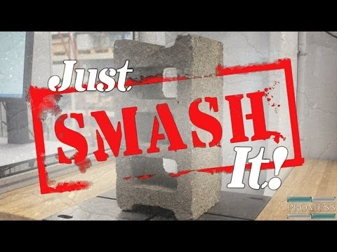 Just SMASH It! Episode #1 - How Hard is a Hard Hat? & Crushing Concrete