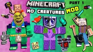 BIG GOLEM interrupts MO' CREATURES MOD showcase!  THIS MEANS WAR! (FGTEEV Minecraft)