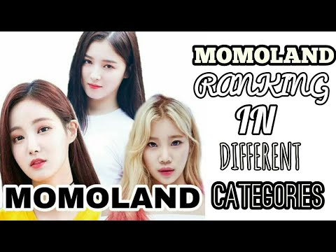 MOMOLAND RANKING IN DIFFERENT CATEGORIES