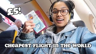 i went on the cheapest flight in the world - only £5! | clickfortaz