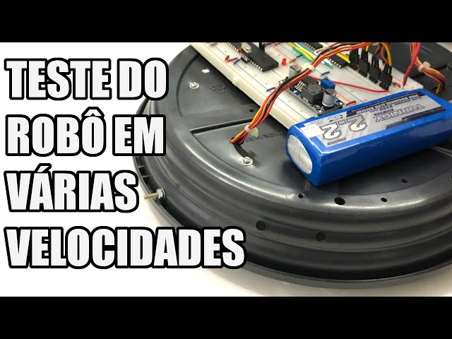 TESTE DO ROBÔ EM VÁRIAS VELOCIDADES | Usina Robots US-3 #021