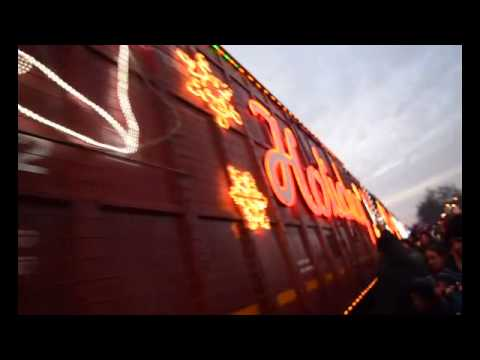 Officer hit by holiday train in front of crowd
