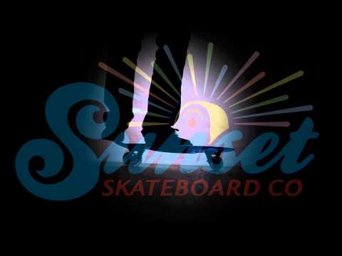 Sunset Skateboard Co. Cruiser with Flare LED Wheels