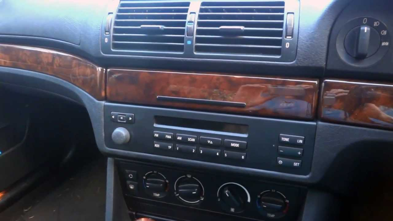 Bmw E39 5 Series How To Remove Radio Youtube