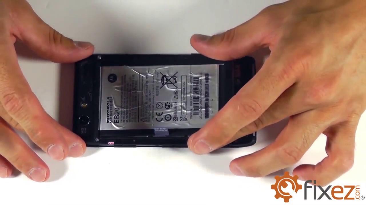 Photos of Motorola Razr Screen Repair