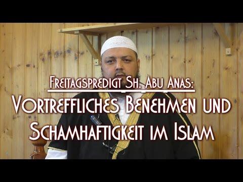 VORTREFFLICHES BENEHMEN UND SCHAMHAFTIGKEIT IM ISLAM mit Sh. Abu Anas am 08.01.2016 in Braunschweig