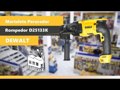 Martelete Perfurador Rompedor 800W D25133K-BR Dewalt - 127V - Vídeo explicativo