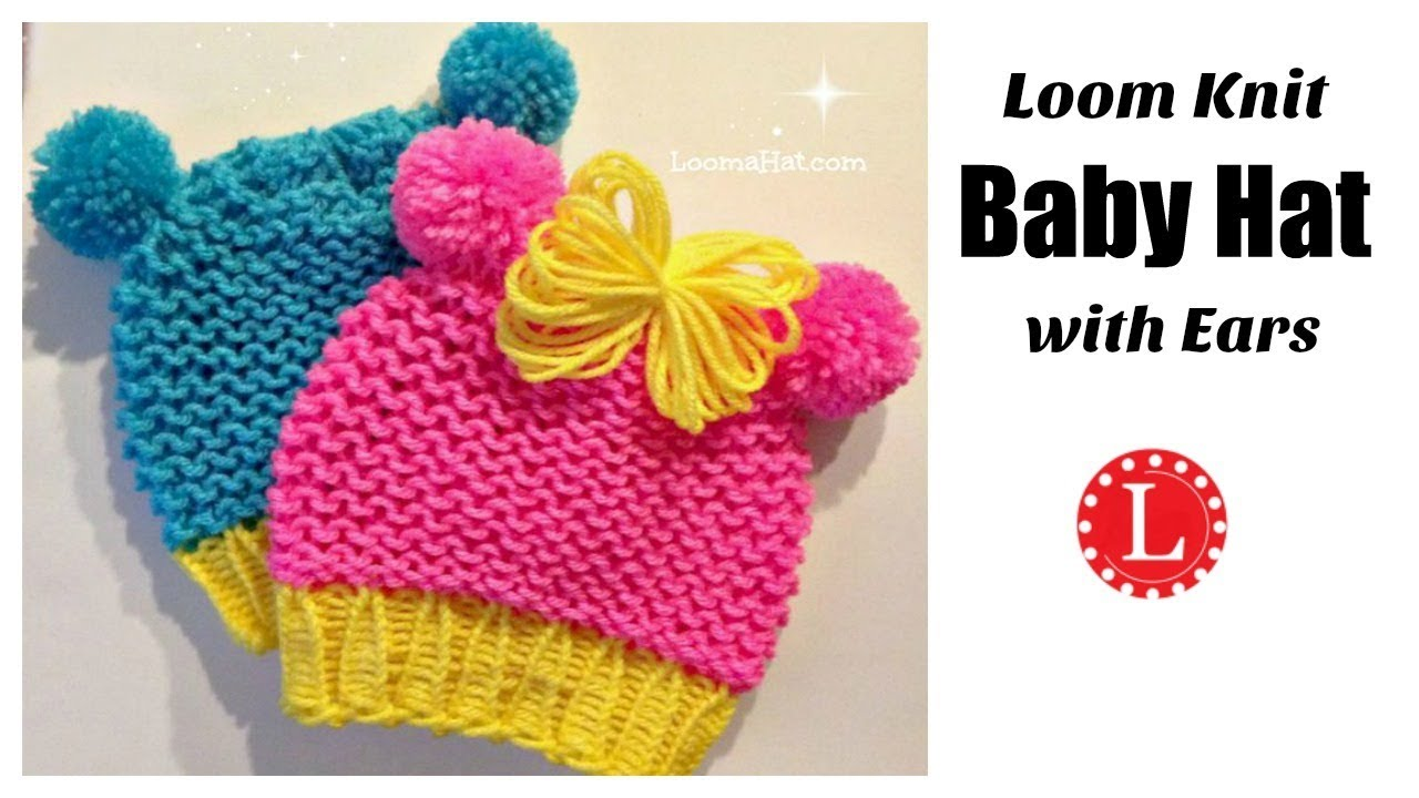 Loom Knit Minnie Mouse Hat On Round Loom Cute Baby Hat