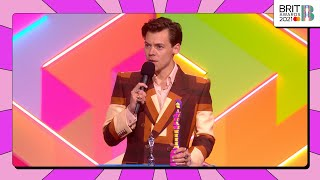 Harry Styles wins British Single | The BRIT Awards 2021