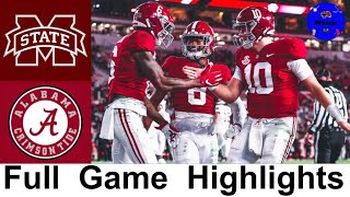 Mississippi State vs #2 Alabama Highlights | College Football Week 9 | 2020 College Football