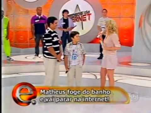 Baixar Menino de Natal não gosta de tomar banho. Matheus na Eliana SBT famosos da internet.