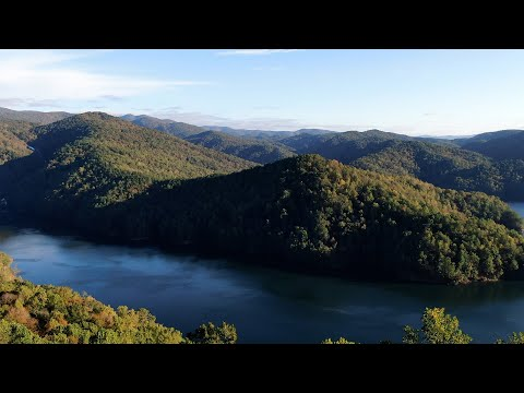 screenshot of youtube video titled From the Sky | Lake Jocassee