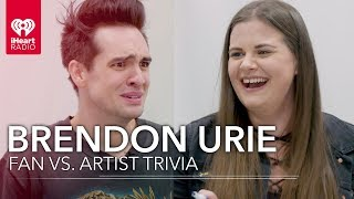 Brendon Urie Challenges Super Fan In Trivia About Himself | Fan Vs. Artist Trivia