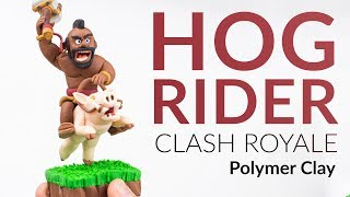 Hog Rider (Clash Royale) – Polymer Clay Tutorial