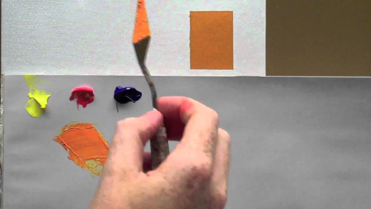 Colour Mixing Basics Acrylic Painting Technique To Match