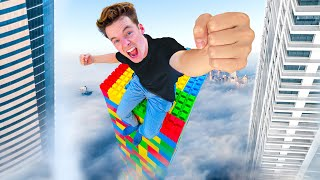 I Broke MrBeast's World Record! (World's Largest Lego Tower)