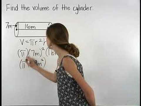 Volume Of A Cylinder Mathhelp Com Math Help Youtube