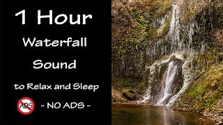 Waterfall Sound 6 | 1 Hour Nature Sound | Lullaby to Sleep