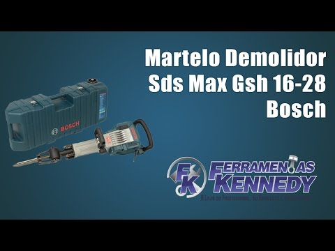 Martelo Demolidor 1750W 17,9 Kg SDS Max Bosch - 220 Volts - Vídeo explicativo
