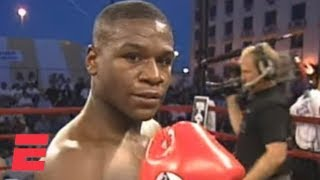 Floyd Mayweather wins his pro boxing debut by knockout in 1996 | ESPN Archive