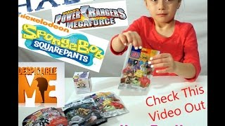 New Toy Haul Video 2! Mega Blocks Halo Power Rangers Minion Sponge Bob Ultra Rares Mystery bags