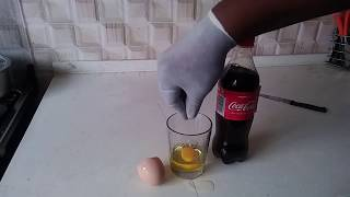 See what happens when you mix coca cola with Egg