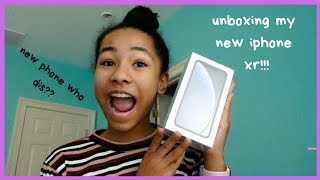 i got a new phone!! iphone xr unboxing