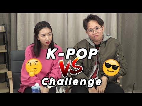K-POP CHALLENGE: ORANG KOREA VS ORANG INDONESIA!! ft. Alphiandi