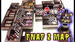 FNAF 2 Complete Mcfarlane Toys Game Map Playset - Five Nights at Freddy's 1-4 Sets Freddy Fazbears