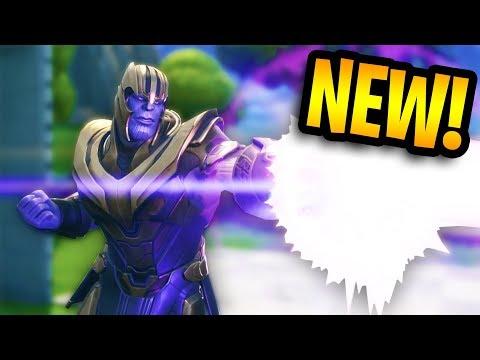 NEW THANOS INFINITY GAUNTLET GAMEPLAY! | Fortnite Battle Royale