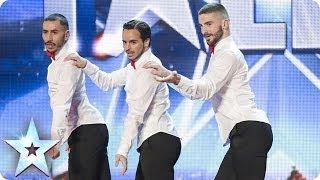 3 anh chàng đi giày cao gót múa sexy trên sân khấu