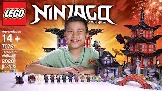 TEMPLE OF AIRJITZU - LEGO NINJAGO Set 70751 - Time-lapse Build, Unboxing & Review!