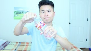 How to drink a bottle of water in 1 second!