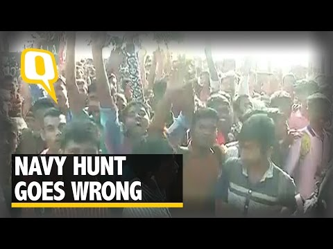 Stampede Breaks out at Mumbai Navy Recruitment Camp-Visuals