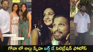 Allu Arjun throws birthday party to wife Sneha in Goa..