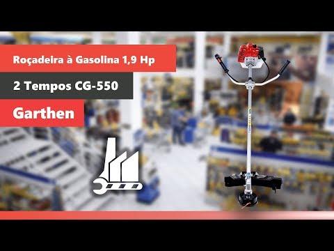 Roçadeira à Gasolina 1,9 HP 2 Tempos 51,7 CC CG-550 Garthen - Vídeo explicativo