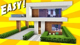 Rumah Modern Minecraft Pe Sederhana