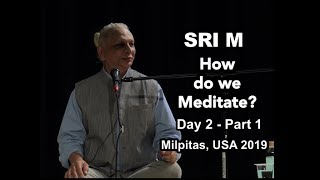 Sri M - 'How do we Meditate?' - Public Satsang - Day 2 Part 1, Milpitas USA 2019